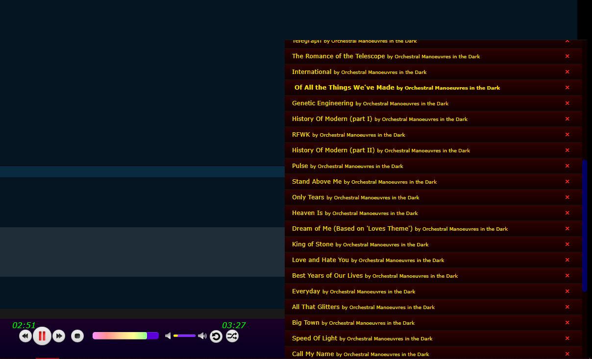 Ampache Tracklist